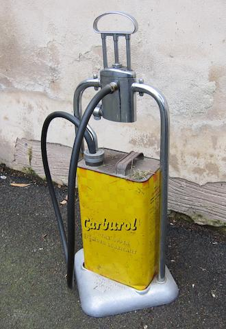 A Carburol oil dispenser,