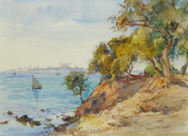 Conrad Hector Rafaele Carelli (British, 1869-1956) Istanbul from Iskudar