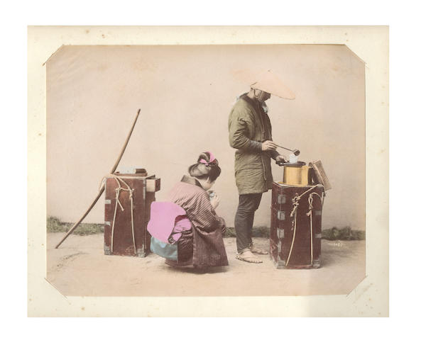 JAPAN An album of 32 views and portraits, [c.1890]
