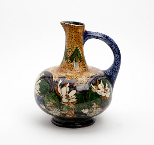 An English pottery jug, attributed to William Ruscoe Circa 1910-30