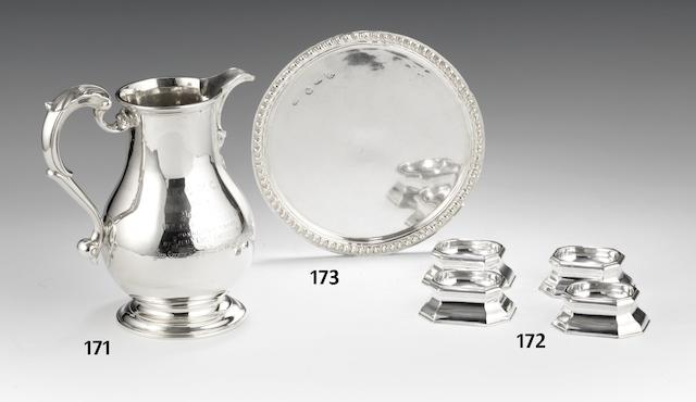 A set of four George II silver trencher salt cellars by Edward Wood, London 1731  (4)