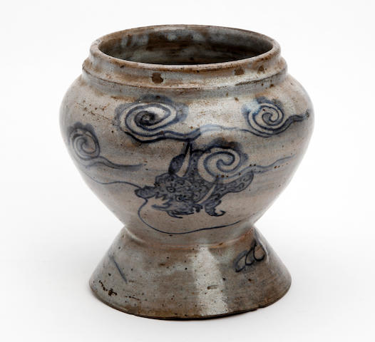 A blue and white Annamese jar 15th/16th Century