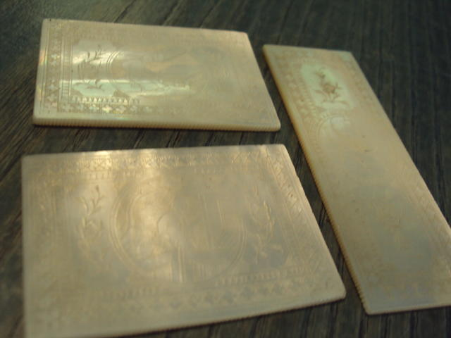 A collection of small Chinese mother of pearl panels