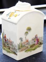 A Meissen tea canister, circa 1745-50