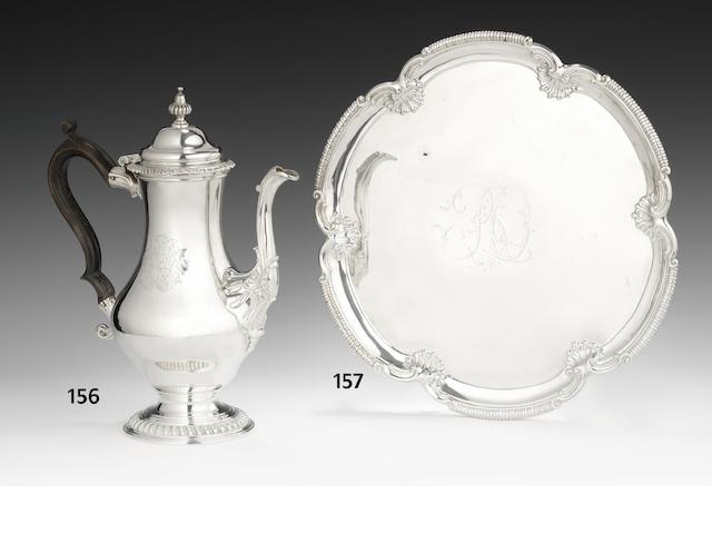 A George III  silver coffee pot by Thomas Whipham & Charles Wright, London 1766
