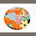 A Clarice Cliff 'Bouquet' design circular wall plaque Circa 1935