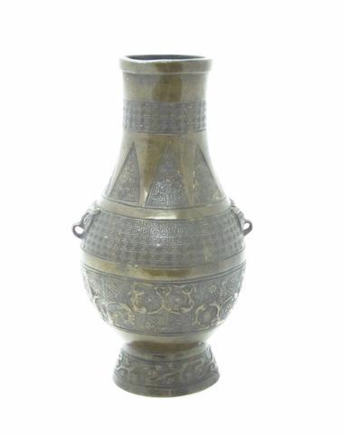 An archaistic bronze vase Circa 1900