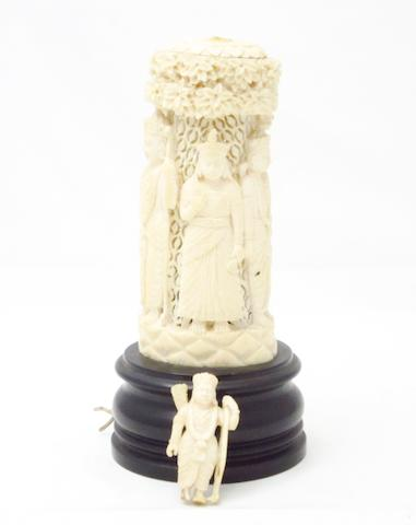 An ivory Indian night light Circa 1900