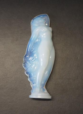 A glass figure of a nude lady, by Sabino,