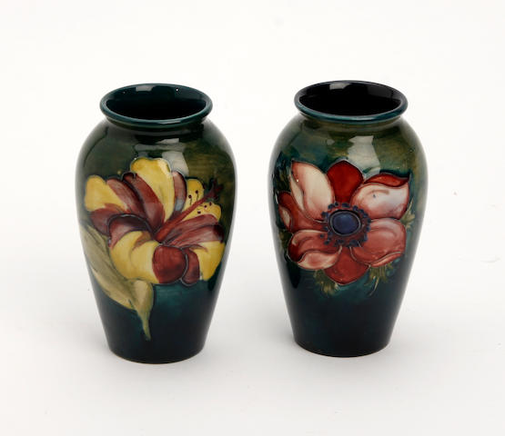 Two small Walter Moorcroft vases