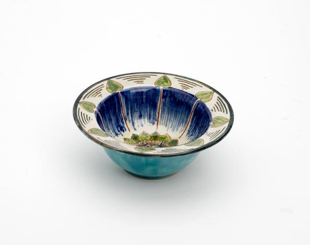 A Della Robia bowl by Cassandia Ann Walker Circa 1910