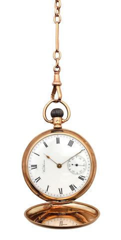 9ct gold pocket watch + chain