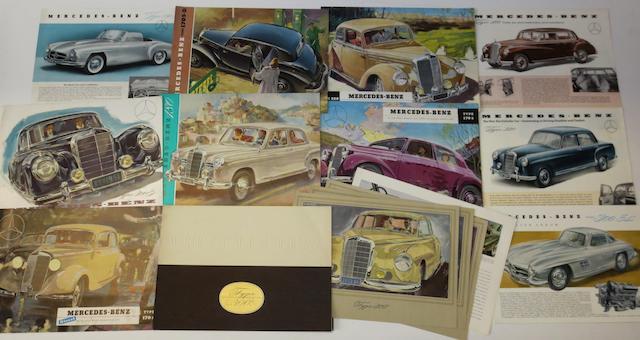 Assorted Mercedes-Benz sales literature,