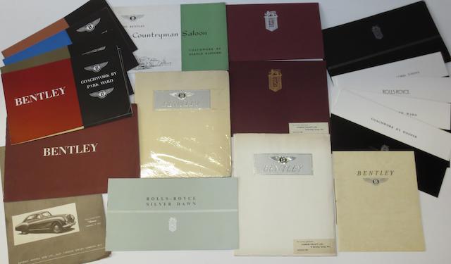 Rolls-Royce and Bentley sales literature,