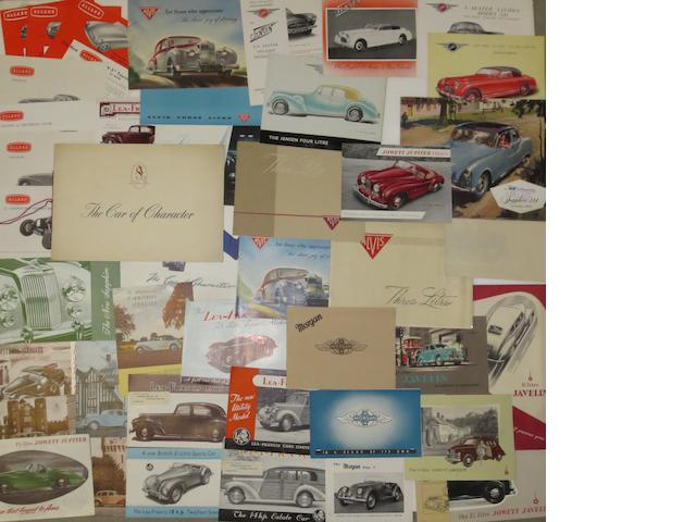 A quantity of sales brochures for post-War British marques,