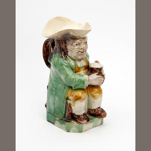 A Staffordshire Ordinary-type Toby jug Circa 1790