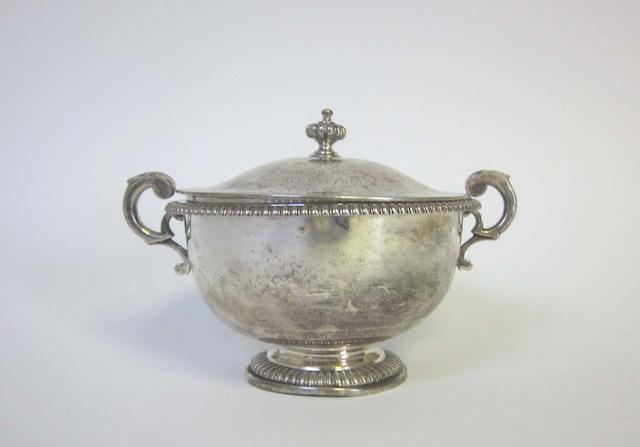 GARRARD: A silver two-handled bowl and cover, by Robert Garrard, London 1863,