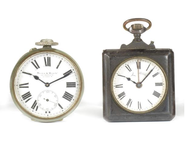 Two pocket watches, formerly the property of S.F. Edge,