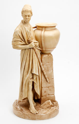 A Royal Worcester figure of a water carrier, by James Hadley Circa 1884