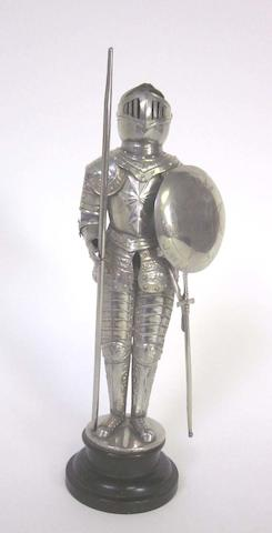 A   white metal armoured statue of Jean Parisot de la Valette apparently unmarked  (1)