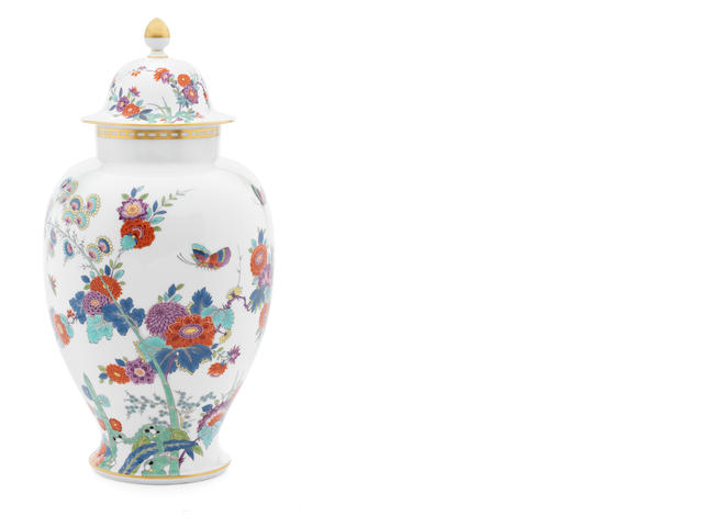 A Meissen vase and cover, modern