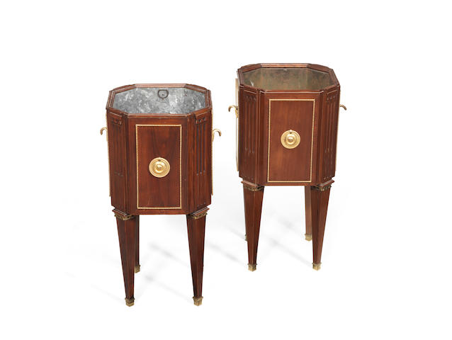 A pair of mahogany jardinires (Sothebys London, 6 December 2011 - lot 89)