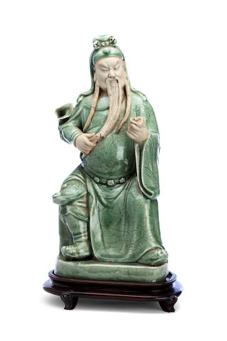 A large porcelain model of Guandi 19th century