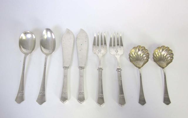 An Austro-Hungarian silver serving set by Alexander Sturm, Vienna, 1872-1922  (10)