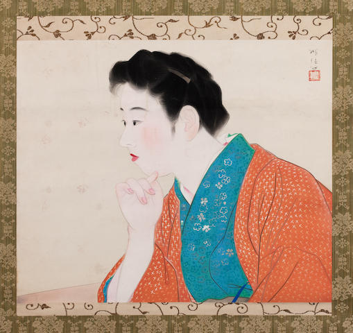 A portrait of a woman Taisho/Showa