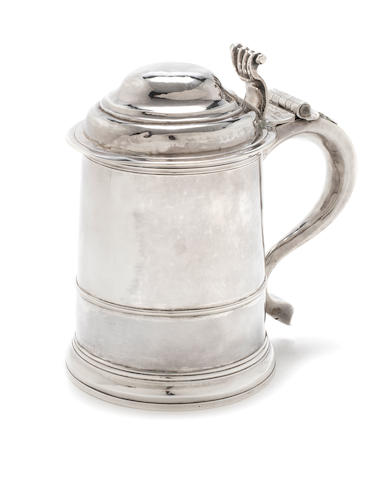 A George I  silver tankard by Richard Bayley, London 1716  (1)