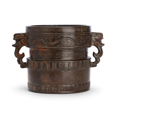 A bronze censer Bearing Xuande six character mark but 18th century