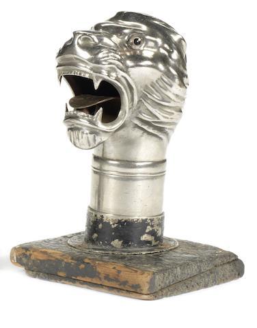 A rare British Lion horn 'trumpet', British, circa 1905,