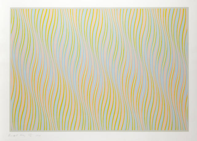 Bridget Riley (British, born 1931) Untitled (Bronze) Screenprint in colours, 1978, on wove, signed and numbered from the edition of 75 (20 A/Ps), printed by Graham Henderson, London, 570 x 838mm (22 1/2 x 33in)(I)