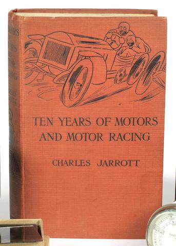 A signed copy of Charles Jarrott: Ten Years of Motors and Motor Racing;
