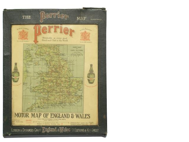A cased set of Perrier maps of England & Wales,