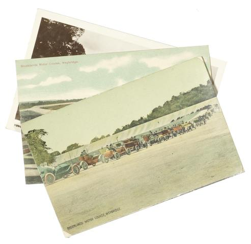 Three early Brooklands postcards, circa 1907,