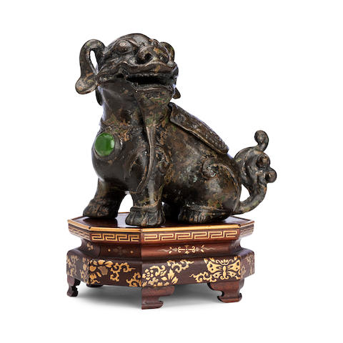 A bronze incense burner, Probably 18th century