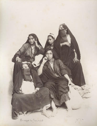 EGYPT An album comprising approximately xx images either by Bonfils, Zangaki, or G. Lekegian including good portraits, [c.1885]