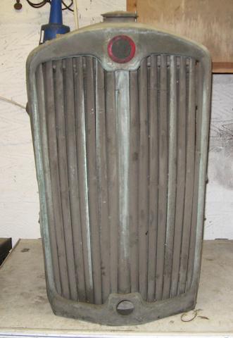 A Lea Francis radiator,