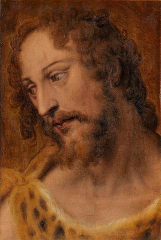 Bartolomeo Passarotti (Bologna 1529-1592) Head study for Saint John the Baptist unframed