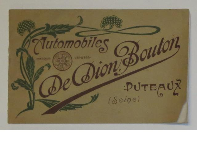 A De Dion Bouton range brochure for 1906,