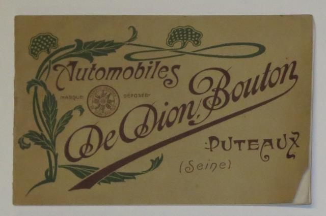 A De Dion Bouton range brochure for 1906,