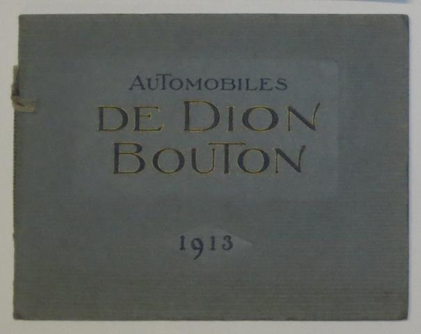 A De Dion Bouton range brochure for 1913,