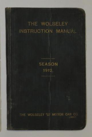 A Wolseley instruction manual for 1912,