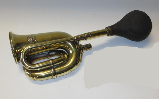 A Lucas 'King of the Road' double-twist bulb horn,