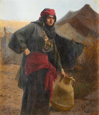 Tony Binder (Austrian, 1868-1944) A Berber water carrier