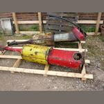 Two Bowser-type petrol pumps for restoration,