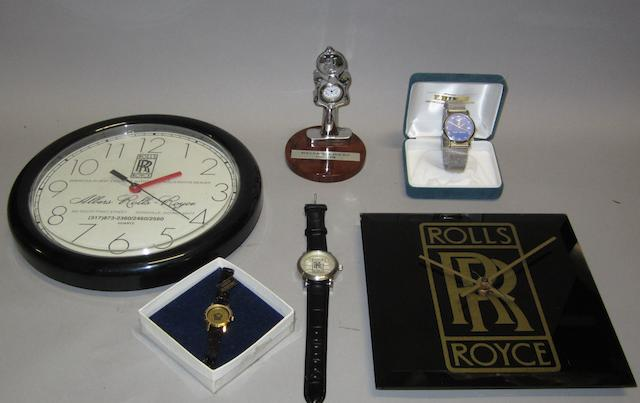 Six Rolls-Royce themed timepieces,