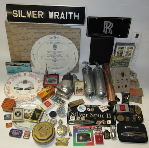 A lot of Rolls-Royce collectables and other automobilia,