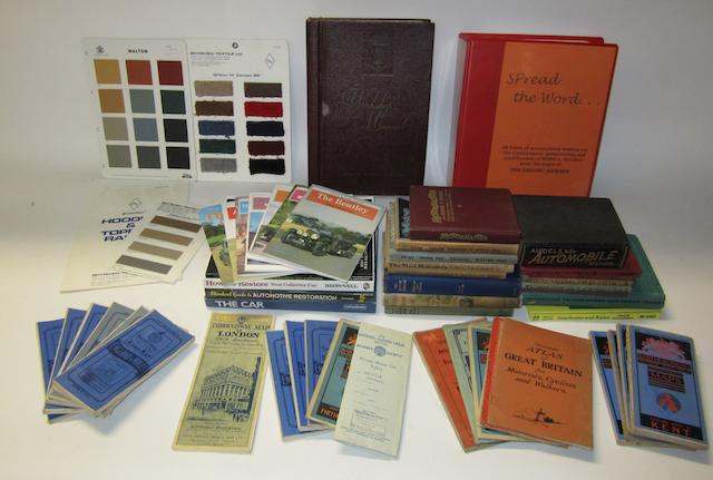 Assorted technical books and repair manuals,